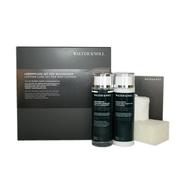 Walter Knoll leather care set for wax leather