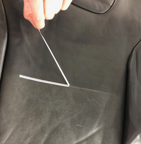 ausgetrocknetes Leder