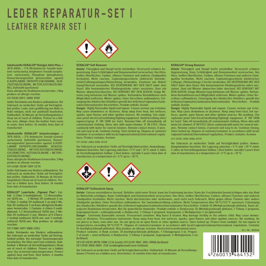 KERALUX® Leder Reparatur-Set 1 15