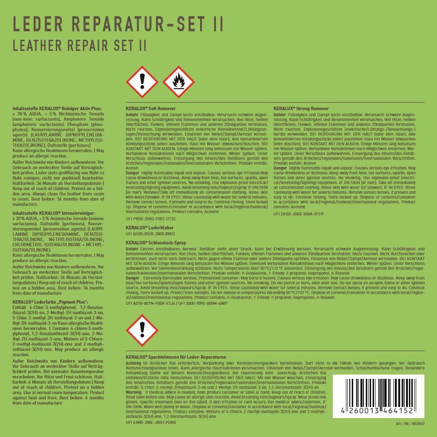 KERALUX Leder Reparatur-Set II 6