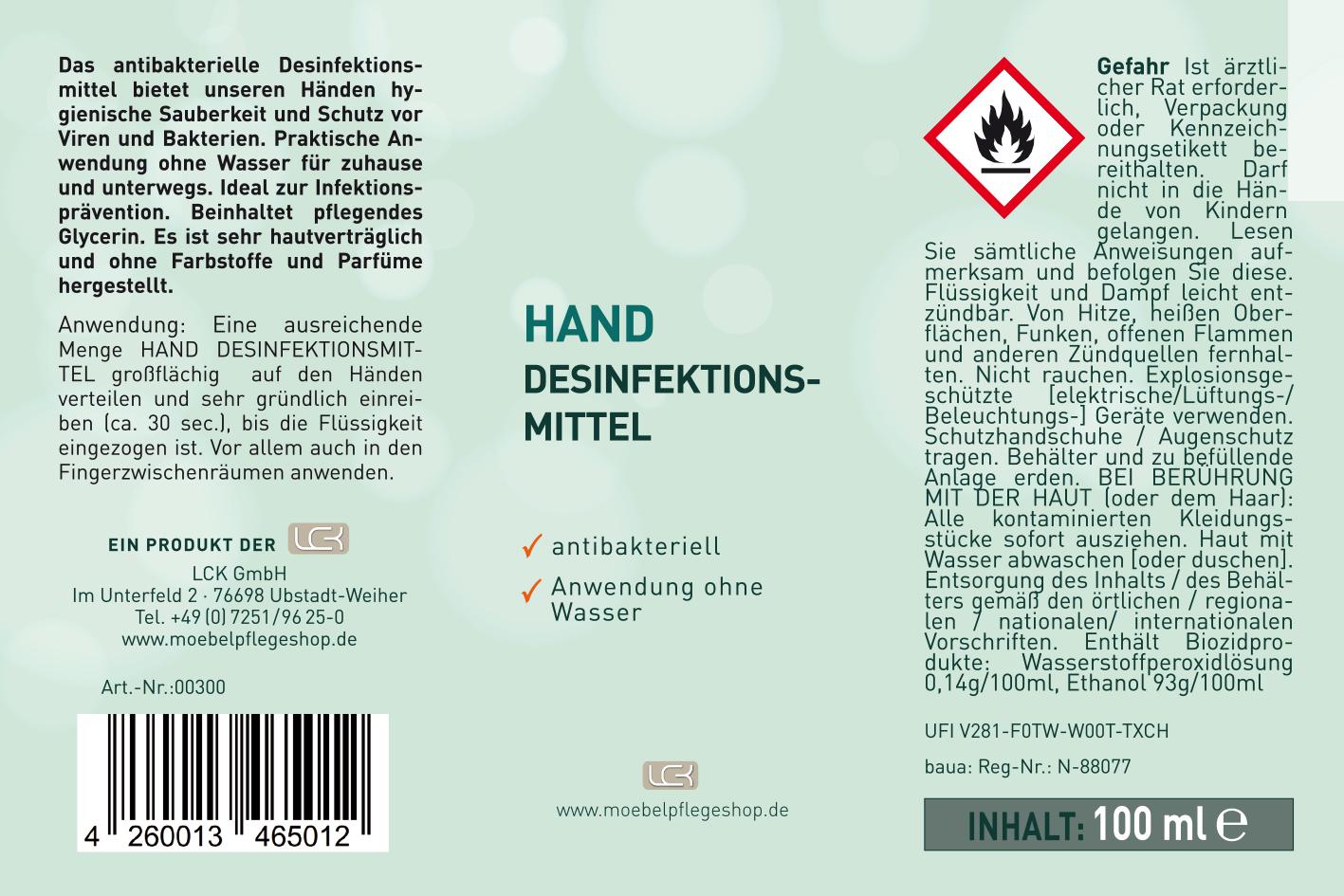 Hand Desinfektionsmittel > antibakteriell 2