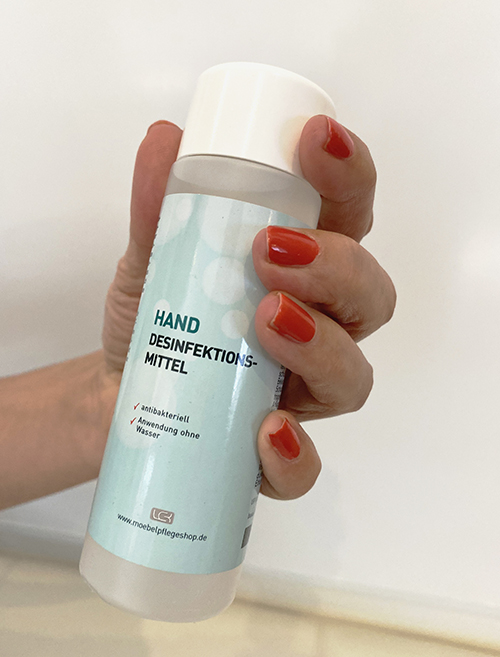 5 x Hand Desinfektionsmittel + Gratis: 5 Atemschutzmasken 5