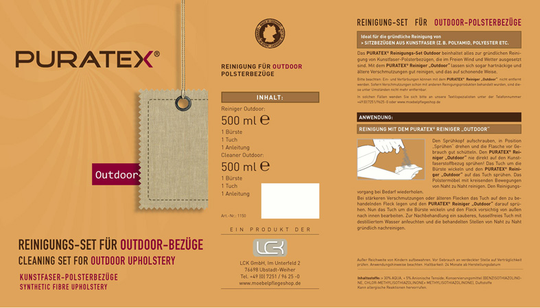 PURATEX® Cleaning Set for outdoor upholstery 2
