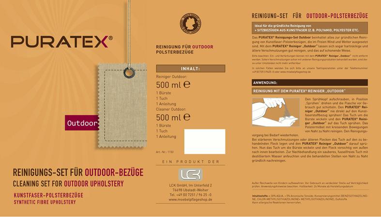 PURATEX® Reinigungs-Set für Outdoor-Bezüge 2