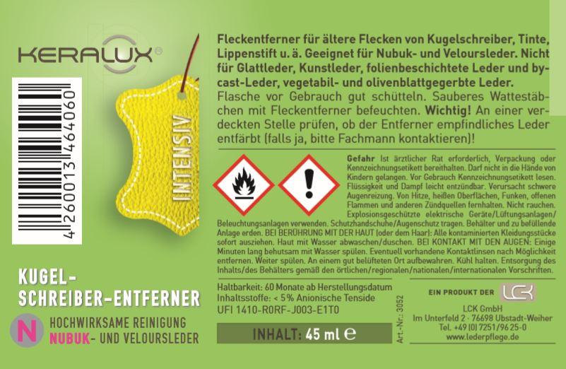 KERALUX® Kugelschreiber-Entferner N für Nubuk 2